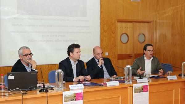 Manuel Herrero, Antonio Álvarez Ossorio, Nicolás Morales y Alain Hugon