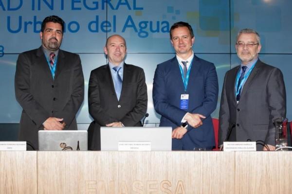 Desde la izquierda, José Ramón Ferreira, Fernando Tejedor, Víctor Amadeo Bañuls y José Antonio Román