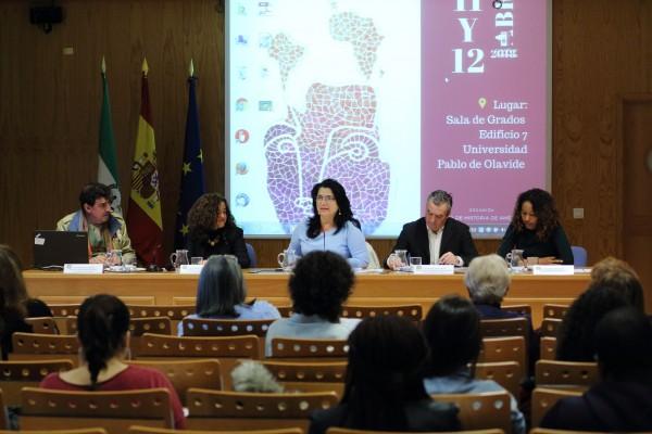 Juan Marchena, Rosario Moreno, Pilar Rodríguez, Miura y Sandra Taborda