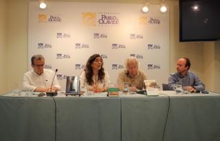 De izquiera a derecha: Manuel González de Molina, Rosa Díaz, Juan Maestre y Víctor Manuel Muñoz