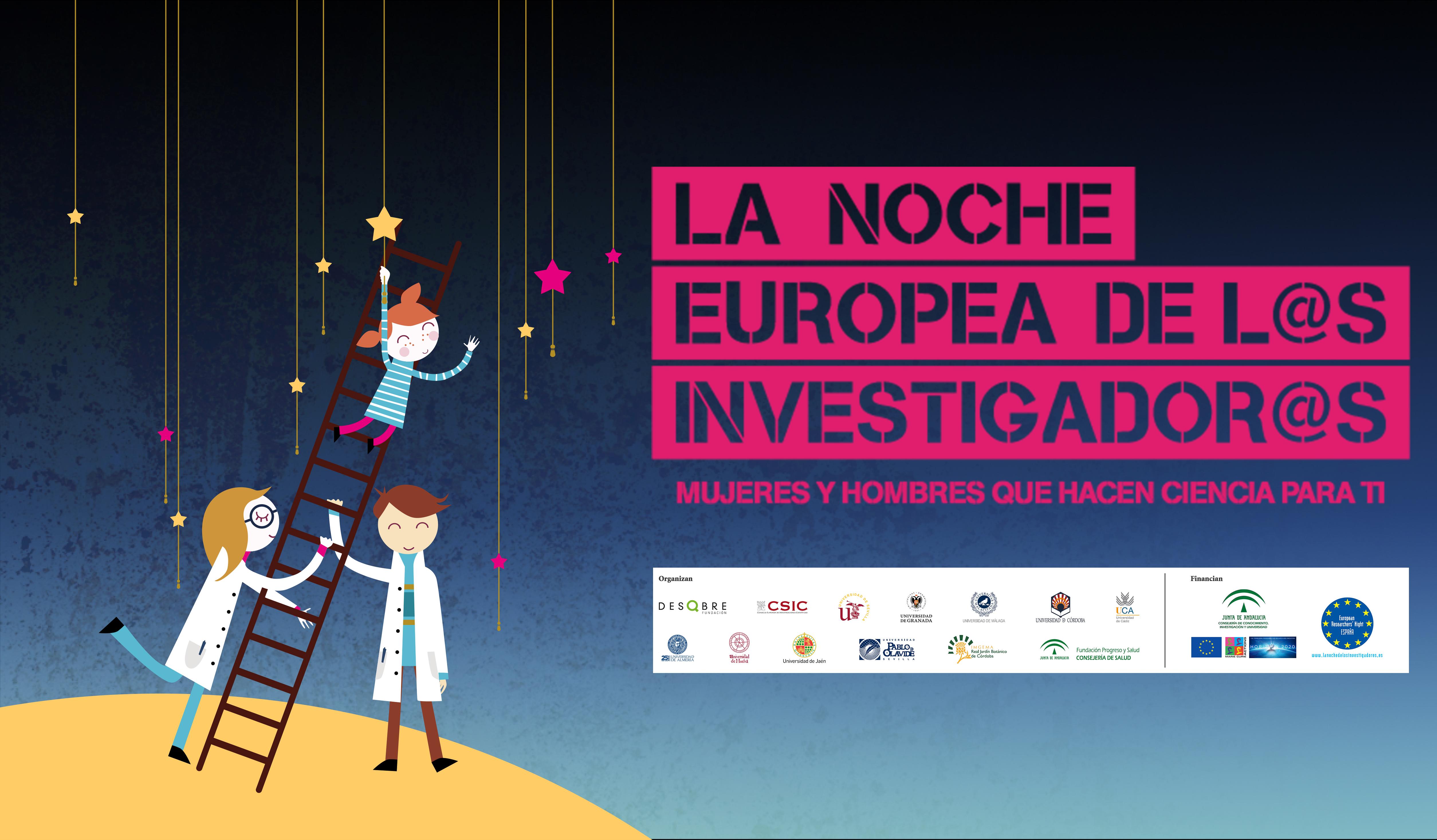 Resultado de imagen de la noche europea de los investigadores almeria 2018