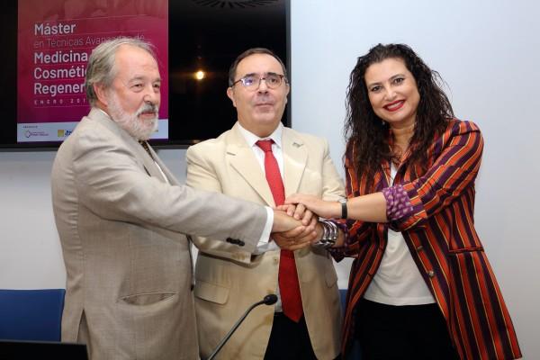 De izquierda a derecha: Alfonso Carmona, Vicente Guzmán y Rocío Vázquez