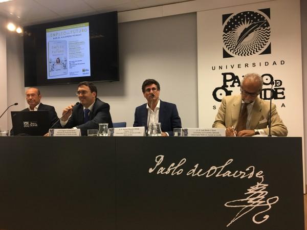 De izquierda a derecha: Francisco Ferraro, Eugenio Fedriani, Manuel Hidalgo y José María O´Kean
