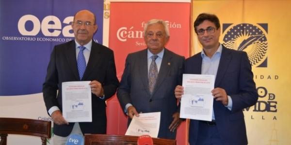 De izquierda a derecha: Francisco Ferraro, Francisco Herrero y Manuel A. Hidalgo