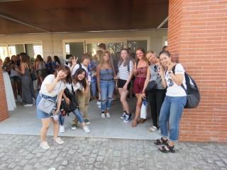 Estudiantes extranjeras de la UPO