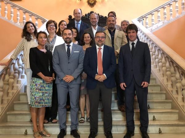 Representantes de la Junta de Andalucía, Ayuntamiento de Sevilla y la UPO inician los preparativos de ECSS Seville 2020
