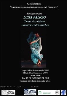 """Luisa Palicio abre el ciclo  """"Las mujeres como transmisoras del flamenco"""""""