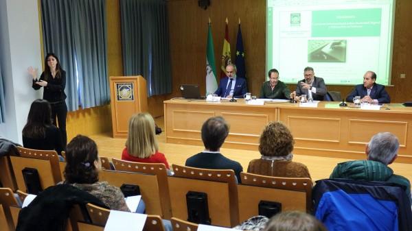 Alberto Sarasola, Francisco M. Martín, Mariano Reyes y Eloy López en la presentación de la Jornada