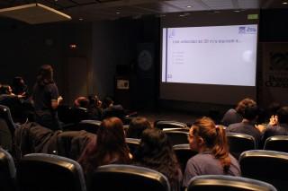 Imagen de los estudiantes en el concurso.
