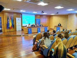 Imagen de una de las ponencias de la en la XII Reunión anual de la Red OTRI Andalucía.