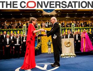 Ceremonia de entrega del Premio Nobel de Física 2018 a Donna Strickland