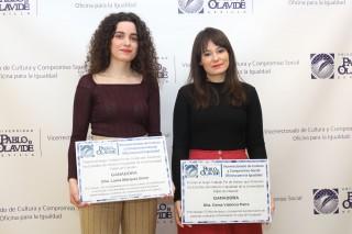 De izquierda a derecha, Laura Márquez y Gema Valencia.