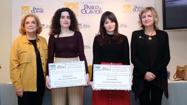 De izquierda a derecha, Amparo Rubiales, Laura Márquez, Gema Valencia y Elodia Hernández León.