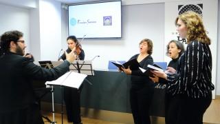 Imagen de la actuación musical celebrada tras la firma del protocolo de colaboración.