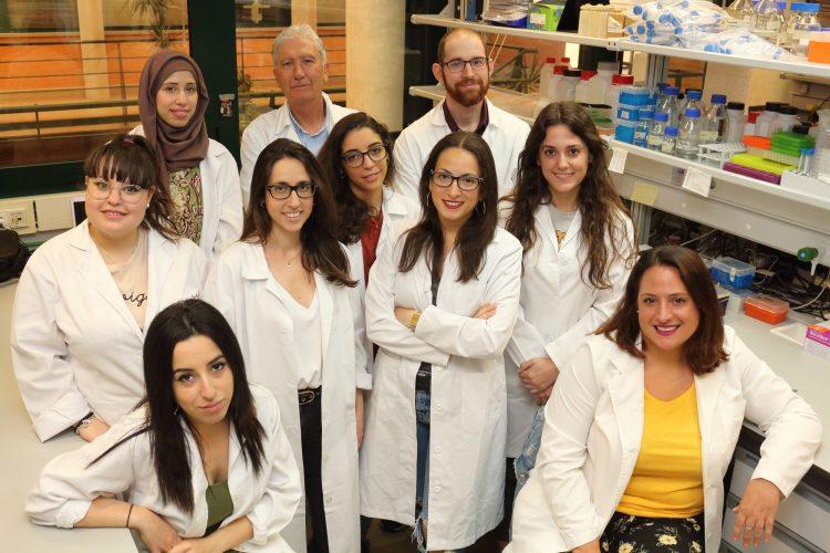Miembros del equipo científico dirigido por José Antonio Sánchez Alcázar.
