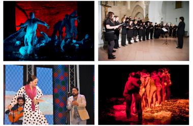 imágenes del programa Artes y Formación: flamenco, teatro, coro de la Universidad