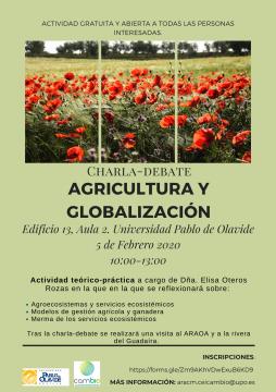 Charla: Agricultura y Globalización. 5 de febrero. 10:00-13:00. Edificio 13, aula 2