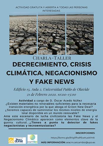 DECRECIMIENTO, CRISIS CLIMÁTICA, NEGACIONISMO Y FAKE NEWS