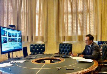 Videoconferencia EvAU presidente Villamandos