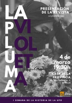 La pluma Violeta, cartel