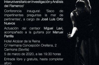 acto de inauguración de la II edición del Master Interuniversitario en Investigación y Análisis del Flamenco