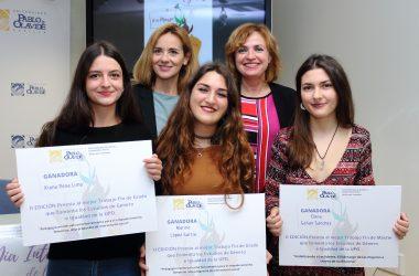 las premiadas con Elodia Hernández y María del Rocío Cárdenas