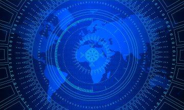 ilustración digital ciberespacio