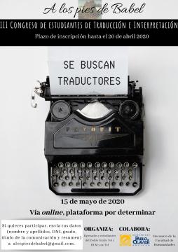 Congreso 'A los Pies de Babel' @ Online - Universidad Pablo de Olavide