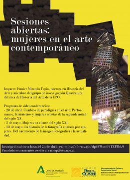 Sesiones abiertas: mujeres en el arte contemporáneo @ Online - Universidad Pablo de Olavide