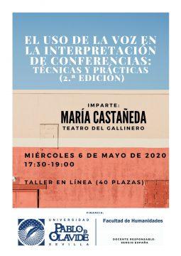 El uso de la voz en la interpretación de conferencias: técnicas y prácticas (2.ª edición, modalidad en línea) @ Online - Universidad Pablo de Olavide