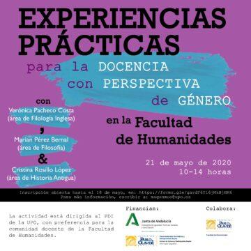 Experiencias prácticas para la docencia con perspectiva de género en la Facultad de Humanidades @ Online - Universidad Pablo de Olavide