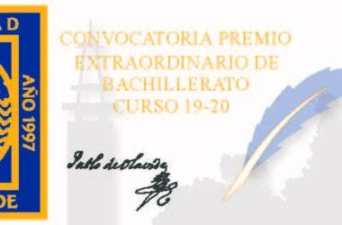 Premios de Bachillerato 2019/20