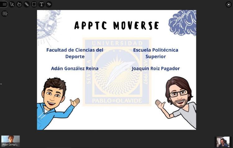 Imagen de la presentación de los TFG de Adán González y Joaquín Roiz.
