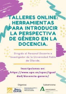 Perspectiva de género en la docencia: Humanidades, Ciencias Sociales y del Deporte @ Online - Universidad Pablo de Olavide