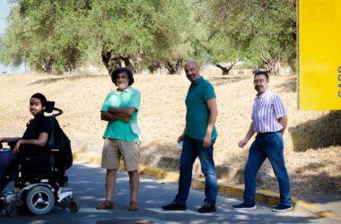 Antonio Pérez Pulido, Juan Jiménez, Manuel Muñoz y Andrés Garzón