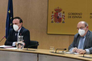 José Carlos Gómez Villamandos compareción en rueda de prensa tras reunirse con el ministro Castells