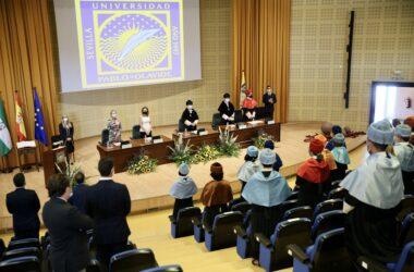 Acto de apertura del curso 2020/21 en la UPO