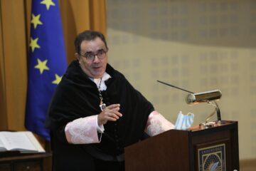 Vicente Guzmán durante su discurso