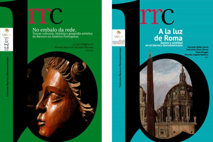 portadas de 'No embalo da rede' y de 'A la luz de Roma'