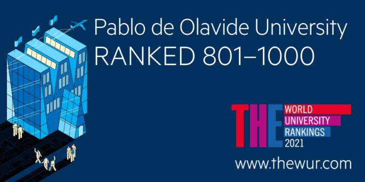 La UPO en la posición 801-1000 del World University Rankings 2021