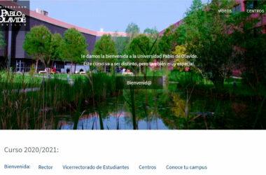 web de bienvenida - portada