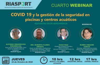 """seminario 'online' 'COVID-19 y la gestión de la seguridad en piscinas y centros acuáticos. Respuestas desde Iberoamérica"""""""