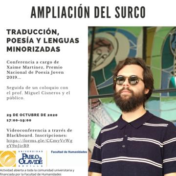 Ampliación del surco: traducción, poesía y lenguas minorizadas @ Online - Universidad Pablo de Olavide