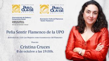 Charla de Cristina Cruces sobre Pastora Pavón @ Online - Universidad Pablo de Olavide