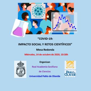 Mesa Redonda 'Covid-19: impacto social y retos científicos' @ Universidad Pablo de Olavide - Paraninfo