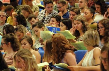 acto de bienvenida de la UPO a estudiantes internacionales del curso pasado