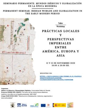 Seminario 'Prácticas locales y perspectivas imperiales entre América, Europa y Asia' @ Online - Universidad Pablo de Olavide