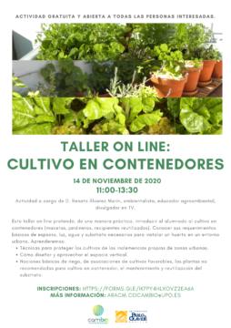 Taller online 'Cultivo en contenedores' @ Online - Universidad Pablo de Olavide