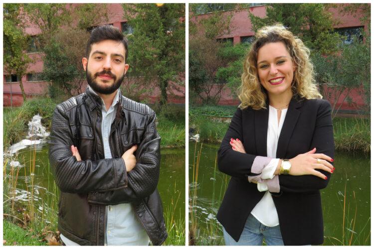 Abraham García González y Alba María Aragón Morales.