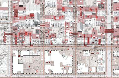 ilustración: elementos que conforman una ciudad, públicos y privados